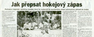 26.7.2003 - Lidov noviny - Jak pepsat hokejov zpas 