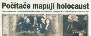 26.7.2003 - Lidov noviny - Potae mapuj holocaust 